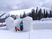 Snow Fort at Keystone Ski Resort, Keystone, Colorado, USA.