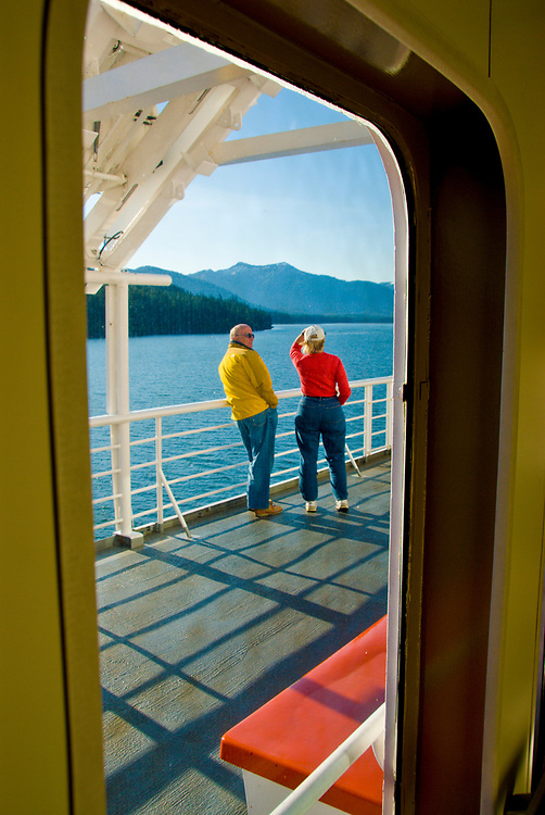 Alaska. The Alaska State Marine ferry provides Tourists and Locals with access to many remote villages along the Inside Passage, as well as major attractions and cities.