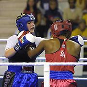 2. WOMEN'S WORLD BOXING CHAMPIONSHIPS.<br /> Denmark's Bettina KARSLEN (L) with USA's Davis Janaya (R). Dilek Sabanci Sport Hall Antalya/Turkey<br /> Photo by Aykut AKICI/TurkSporFoto