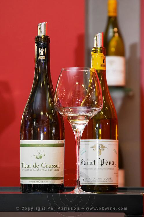 Alain Voge Fleur de Crussol Saint Peray White Rhone Wine and Cuvee Boisee, Cornas, Rhone, France