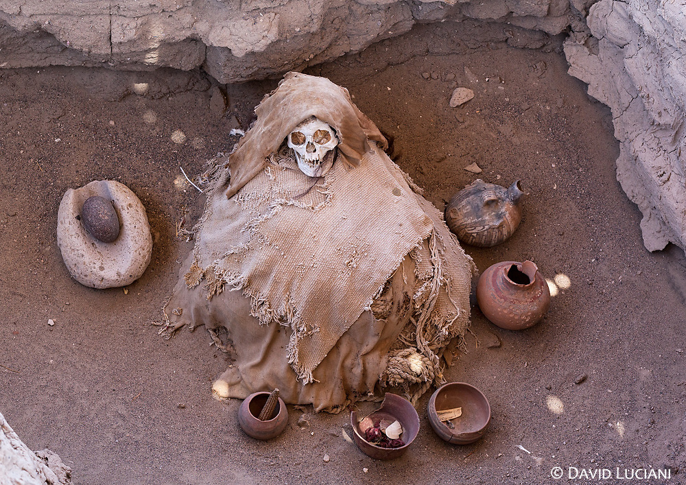 For many years several Nazca burial sites were plundered by grave robbers. Today Chauchilla Cemetery is better secured today, but robberings are still taking place on nearby sites.