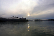 Sunrise, Croisilles Harbour, Marlborough Sounds, New Zealand..