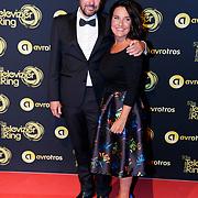 NLD/Amsterdam/20181011 - Televizier Gala 2018, Dione de Graaff en partner Nando Boers