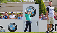 Francesco MOLINARI on the 1st hole during the 4th day of the BMW PGA Championship at Wentworth, Virginia Water, United Kingdom on 24 May 2015. Photo by Ellie  Hoad.