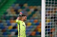 António Adan signaling during the Liga NOS match between Sporting Lisbon and Belenenses SAD at Estadio Jose Alvalade, Lisbon, Portugal on 21 April 2021.
