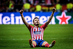 August 16, 2018 - Tallinn, Estonia - Lucas Hernandez of Atletico Madrid in action at UEFA Super Cup 2018 in Tallinn..The UEFA Super Cup 2018 was played between Real Madrid and Atletico Madrid. Atletico Madrid won the match 4-2 during extra time after and took the trophy after drawing at 2-2 during the first 90 minute of game play. (Credit Image: © Hendrik Osula/SOPA Images via ZUMA Wire)