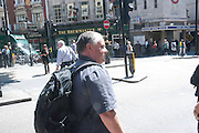 CAMERON ADDICOTT following the target, A group of journalists learning how to do covert surveillance with Cameron Addicott author of THE INTERCEPTOR. They tracked a 'target in central London. Thursday June 3rd 2010<br />  <br />  -DO NOT ARCHIVE-© Copyright Photograph by Dafydd Jones. 248 Clapham Rd. London SW9 0PZ. Tel 0207 820 0771. www.dafjones.com