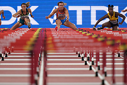 05-10-2019 QAT: World Championships Athletics, Doha<br /> The 2019 IAAF World Athletics Championships is the seventeenth edition of the biennial, global athletics competition organized by the International Association of Athletics Federations / Rikenette Steenkamp of South Africa, Nadine Visser of the Netherlands, Janeek Brown of Jamaica