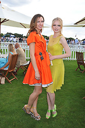Left to right, MARGO STILLEY and KATIA ELIZAROVA at the 27th annual Cartier International Polo Day featuring the 100th Coronation Cup between England and Brazil held at Guards Polo Club, Windsor Great Park, Berkshire on 24th July 2011.