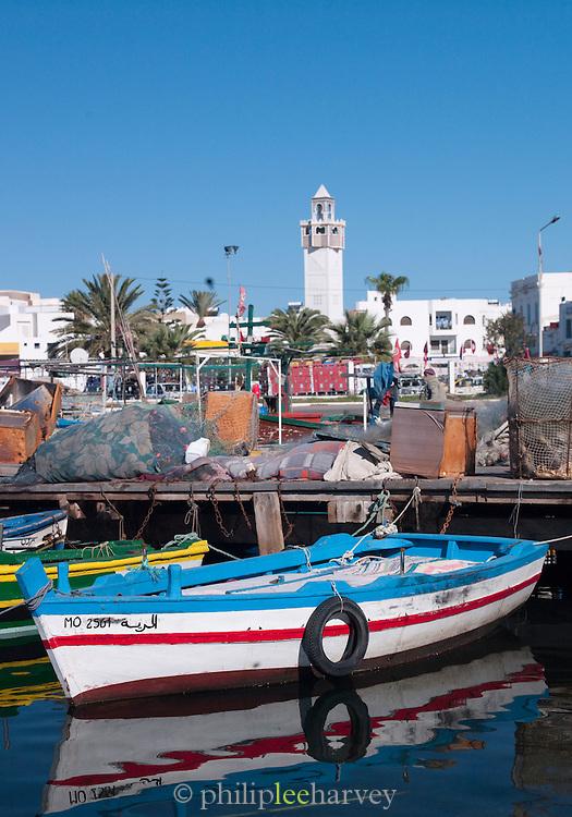 Fishing boat in Mahdia's harbor, Tunisia