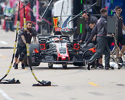 October 20, 2018 - Austin, USA - Haas driver Kevin Magnussen (20) of Denmark in the pit area during the third practice session at the Circuit of the Americas in Austin, Texas on Saturday, Oct. 20, 2018. (Credit Image: © Scott Coleman/ZUMA Wire)