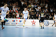 DESCRIZIONE : France Hand D1 Championnat de France D1 a Montpellier<br /> GIOCATORE : Mathieu GREBILLE<br /> SQUADRA : Montpellier<br /> EVENTO :  Hand D1<br /> GARA : Montpellier Dunkerque<br /> DATA : 25/10/2012<br /> CATEGORIA : Hand D1 <br /> SPORT : Handball<br /> AUTORE : JF Molliere <br /> Galleria : France Hand 2012-2013 Action