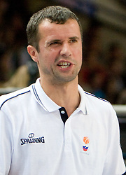 Assistant coach of Slovenia Miro Alilovic during the basketball match at Preliminary Round of Eurobasket 2009 in Group C between Slovenia and Spain, on September 09, 2009 in Arena Torwar, Warsaw, Poland. Spain won 90:84 after overtime.(Photo by Vid Ponikvar / Sportida)