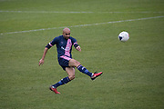 Richard Orlu on the attack for Dulwich Hamlet FC v Chippenham Town in the FA Trophy third qualifying round at Champion Hill on the 23rd November 2019 in South London in the United Kingdom.