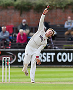 Dom Bess of Somerset bowling during the Specsavers County Champ Div 1 match between Somerset County Cricket Club and Lancashire County Cricket Club at the Cooper Associates County Ground, Taunton, United Kingdom on 14 September 2017. Photo by Graham Hunt.