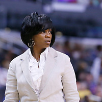 24 July 2014: Los Angeles Sparks head coach Penny Toler is seen during the Phoenix Mercury 93-73 victory over the Los Angeles Sparks, at the Staples Center, Los Angeles, California, USA.