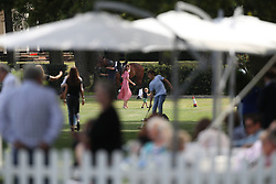 The Duchess of Cambridge and Prince Louis attend the King Power Royal Charity Polo Day at Billingbear Polo Club, Wokingham, Berkshire.
