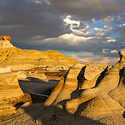 the Bisti Wilderness is a desolate area of steeply eroded badlands that offers some of the most unusual scenery in the Southwest. Time and natural elements have etched this fantasy world of strange rock formations and fossils.