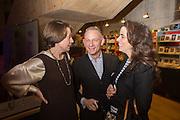 CATHERINE GIBBS; NEIL MENDOZA; AMELIA MENDOZA, Fashion and Gardens, The Garden Museum, Lambeth Palace Rd. SE!. 6 February 2014.