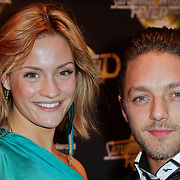 NLD/Amsterdam/20120217 - Premiere Saturday Night Fever, Tommie Christiaan en partner Michelle Splietelhof