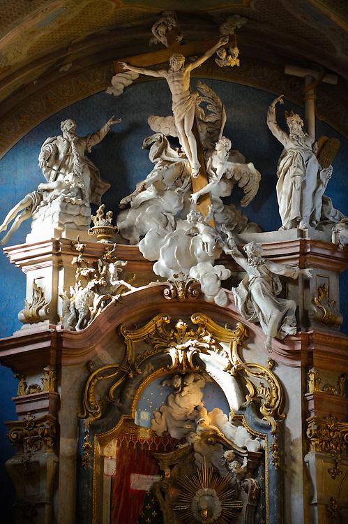 Baroque interior of the church of St Francis Borgia, Eger, Hungary
