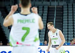 Jaka Blazic of Slovenia reacts during basketball match between Slovenia vs Netherlands at Day 4 in Group C of FIBA Europe Eurobasket 2015, on September 8, 2015, in Arena Zagreb, Croatia. Photo by Vid Ponikvar / Sportida