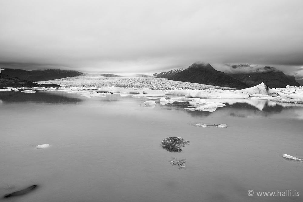Fjallsjökull, Fjallsárlón, jakar og landslag