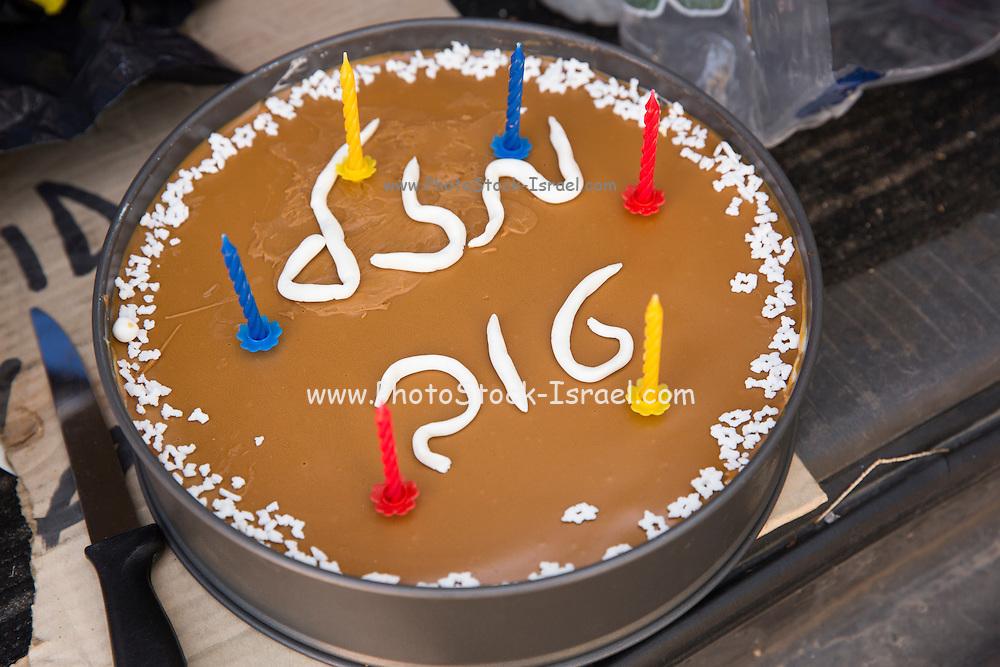 Mazal Tov (good luck in Hebrew) birthday cake