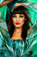 Marc Bouwer Fall 2011 Studio Shoot with Selita Ebanks phtographed by Thomas Concordia
