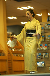 Mineko Iwasaki, in Borders bookshop promoting her book Geisha og Gion..16/10/2002  ©Michael Schofield..No unauthorised syndication on behalf of copyright owner. Pictures licensed for single use only. This Caption and credit details must remain attached to file at all times.....