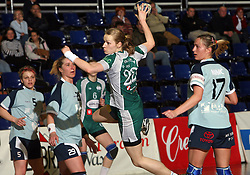 Nusa Skutnik of Olimpija at handball game ZRK Mercator Tenzor Ptuj vs RK Olimpija PLK in match for the third place of Slovenian Handball Cup,  on April 6, 2008 in Arena Golovec, Celje, Slovenia. Ptuj won the game 32:22 and placed third.  (Photo by Vid Ponikvar / Sportal Images)