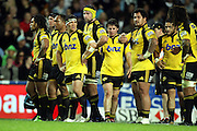 Hurricanes dejected after Kurtley Beale's try<br />Super 14 rugby union match, Waratahs vs Hurricanes, Sydney, Australia. <br />Saturday 14 May 2010. Photo: Paul Seiser/PHOTOSPORT