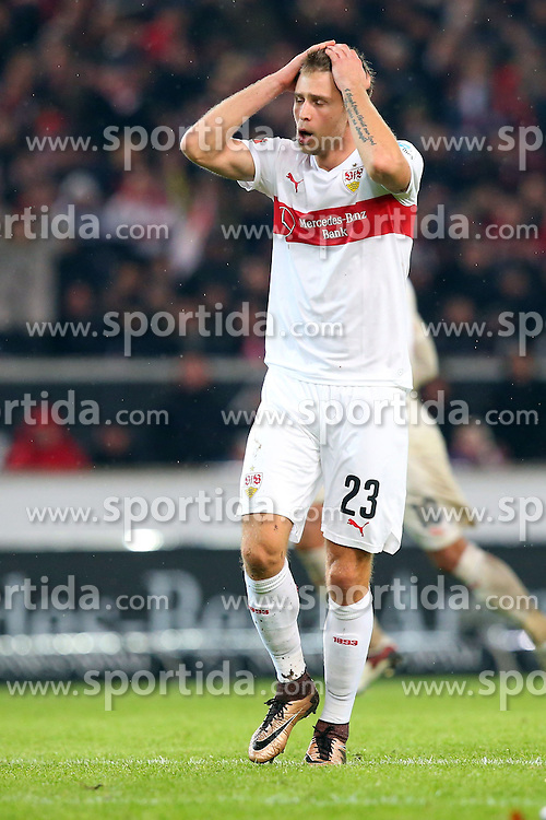 30.12.2015, Mercedes Benz Arena, Stuttgart, GER, 1. FBL, VfB Stuttgart vs Hamburger SV, 19. Runde, im Bild Artem Kravets (VfB Stuttgart) // during the German Bundesliga 19th round match between VfB Stuttgart and Hamburger SV at the Mercedes Benz Arena in Stuttgart, Germany on 2015/12/30. EXPA Pictures © 2016, PhotoCredit: EXPA/ Eibner-Pressefoto/ Langer<br /> <br /> *****ATTENTION - OUT of GER*****
