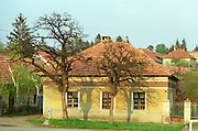 In the Tokaj village Mad: a typical Hungarian house in the also typical yellow colour. Mad is one of the main villages in the Tokaj district.  Credit Per Karlsson BKWine.com