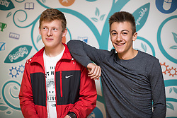 © Licensed to London News Pictures . 24/08/2017 . Rochdale , UK . DANNY MADELEY (16 from Rochdale gets 1 x A**, 4xA* and 5xA) with friend TOM BOOTH (16 from Norden gets 1xA**, 3xA*, 4xA and 1xB) . Students at Oulder Hill Community School collect their GCSE exam results . Photo credit : Joel Goodman/LNP
