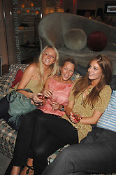 Left to right, MADDY CHESTERTON, DAVINA HARBORD and LARA PILKINGTON at the launch of The Rupert Lund Showroom, 61 Chelsea Manor Street, London SW3 on 2nd May 2007.<br /><br />NON EXCLUSIVE - WORLD RIGHTS
