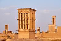 Iran, province de Yazd, Yazd, badgir ou les tours du vents // Iran, Yazd province, Yazd, badgir or the wind towers