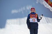 Isabel Atkin, Great Britian, wins BRONZE at the Womens Ski Slopestyle at the Pyeongchang Winter Olympics on 17th February 2018 at Phoenix Snow Park in South Korea