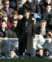 Photo: Lee Earle.<br /> Chelsea v Charlton Athletic. The Barclays Premiership. 22/01/2006. Chelsea manager Jose Mourinho.