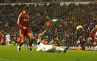 Photo: Paul Greenwood/Sportsbeat Images.<br />Liverpool v Bolton Wanderers. The FA Barclays Premiership. 02/12/2007.<br />Liverpool's Fernando Torres scores the second goal