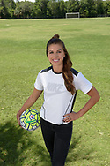 Professional soccer player Alex Morgan poses for a portrait session in Sanford, Fla., Thursday, May 26, 2016. (Photo by Phelan M. Ebenhack)