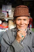 Shop owner in the market, Leh, Ladakh, India