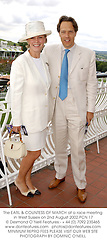 The EARL & COUNTESS OF MARCH at a race meeting in West Sussex on 2nd August 2002.PCN 17