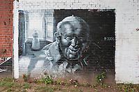 Graffiti in honour of Pope John Paul II seen in Krakow Poland