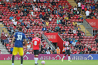 Football - 2021/ 2022 Premier League - Southampton vs. Manchester United - St Mary's Stadium - Sunday 22nd August<br /> <br /> Lots of empty seats in St Mary's Stadium Southampton as Southampton's James Ward-Prowse prepares to kick off. The club have apologised over the PA system and have announced a full refund to all general admission tickets for today game<br /> <br /> COLORSPORT/Shaun Boggust
