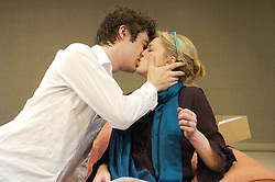 All Mouth<br /> by Jonathan Lewis and Miranda Foster<br /> at the<br /> Menier Chocolate Factory Theatre, London, Great Britain<br /> Press photocall<br /> May 25, 2007<br /> <br /> Caroline Harker (as Mel)<br /> James Russell (as Rod)<br /> <br /> Photograph by Elliott Franks