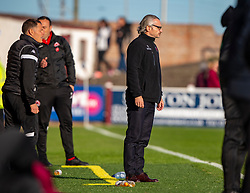 Clyde's manager Danny Lennon. Arbroath 0 v 2 Clyde, Tunnocks Caramel Wafer Challenge Cup 4th Round, played 12/10/2019 at Arbroath's home ground, Gayfield Park.