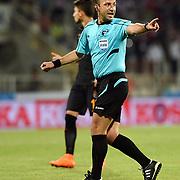 Referee Baris Simsek during their Turkish soccer super league match Medicana Sivasspor between Galatasaray at 4 Eylul Stadium in Sivas Turkey on Saturday, 15 August 2015. Photo by Batuhan AKICI/TURKPIX