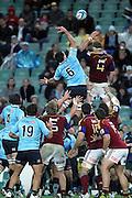 Jarrad Hoeata and Dave Dennis in a lineout. NSW Waratahs v Otago Highlanders. Investec Super Rugby Round 17 Match, 11 June 2011. Sydney Football Stadium, Australia. Photo: Clay Cross / photosport.co.nz