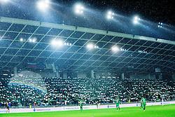 Supporters of Olimpija during football match between NK Olimpija Ljubljana and NK Maribor in 15th Round of Prva liga Telekom Slovenije 2015/16, on November 21, 2015 in SRC Stozice, Ljubljana, Slovenia. Photo by Vid Ponikvar / Sportida